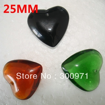 NEW ARRIVAL, HOT PRODUCTS, 3 colors mixed 25mm Heart shape crystal curtain pendants , crystal chandelier pendants ,