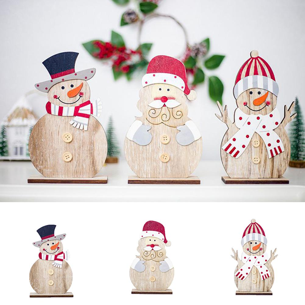 Christmas Gift Snowman Ornament Festival Party Xmas Table Standing Decoration NEW