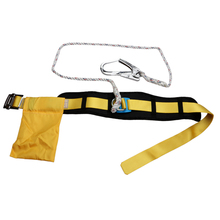 цена на Single Waist Rock Climbing Harness, Aerial Construction Fall Protection, Caving Harness Rope Kit-Safe and Durable