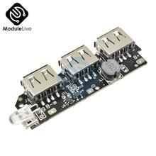 5 в 1A 1.5A 2.1A 3 USB power Bank зарядное устройство схема повышающая плата Повышающий Модуль питания+ 5S 18650 литий-ионный Чехол DIY Kit power bank