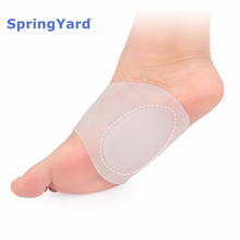SpringYard 100% Silicone Gel Plantar Fasciitis Arch Support Sleeve Bandage Flat Foot Orthopedic Care Men