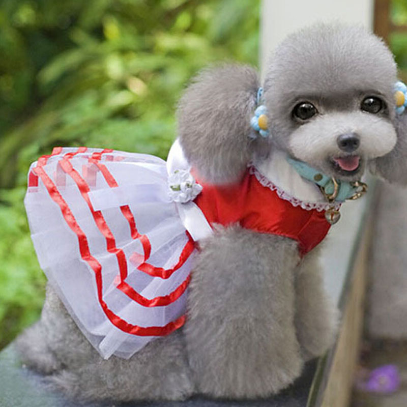 clothes for dogs Dresses skirt Wear for Pets Dog Puppy Cat new spring autumn Suit Puppy Costume Clothes Apparels XT