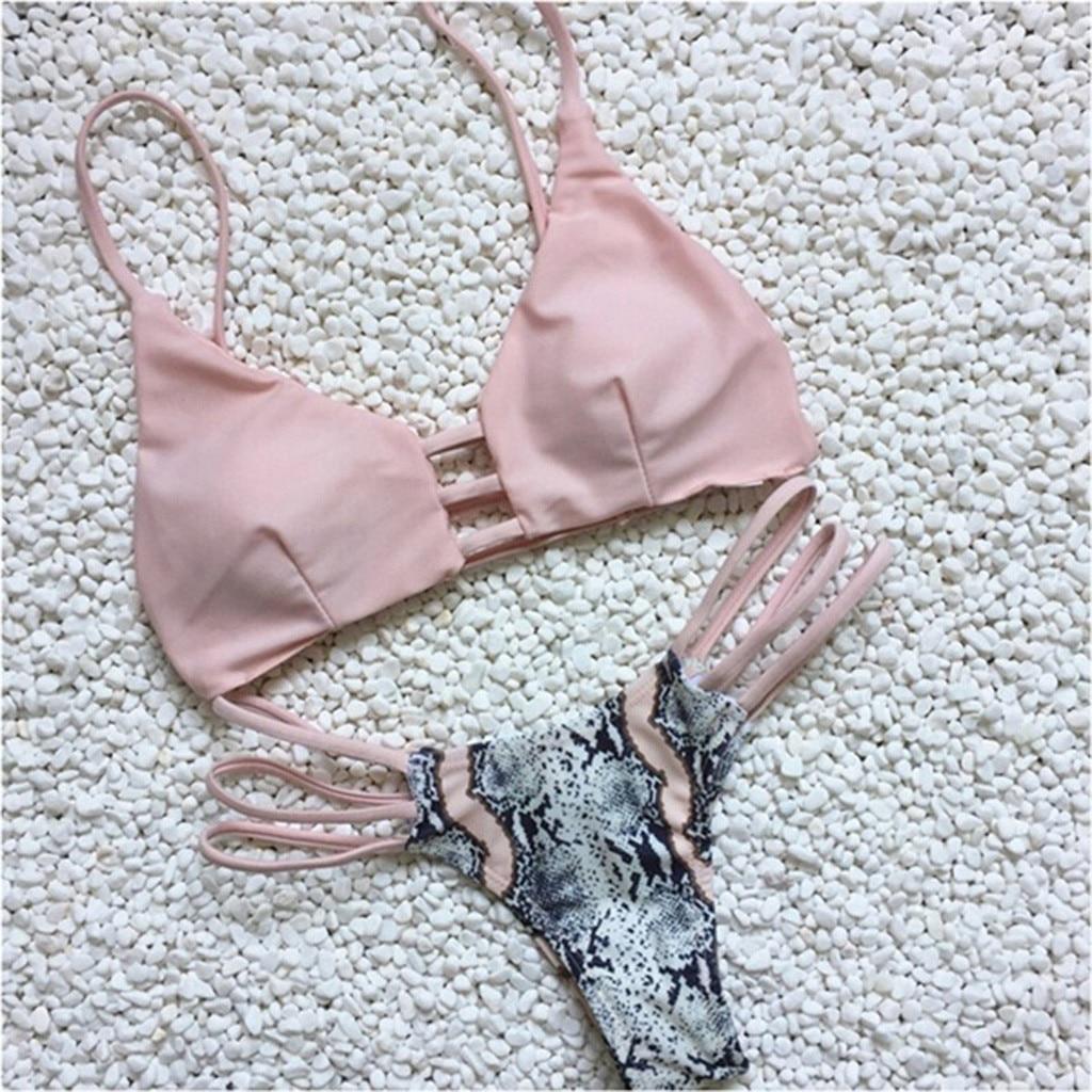 2019 New Fashion Summer Style Beach Wear Sports Women Floral Print Bikini Set Swimming Two Piece Swimsuits Swimwear Beach Suit