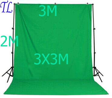 SHIP FROM RUSSIA 2x3m Background Stand 3X3M Background Green white black color muslin 2x3m backdrop stand