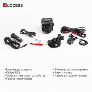 Image 5 - Ruccess kamera samochodowa DVR 3 w 1 wykrywacz radarów z GPS dla rosji Full HD 1080P 1296P Dashcam 2 kamera wideorejestrator dla samochodu