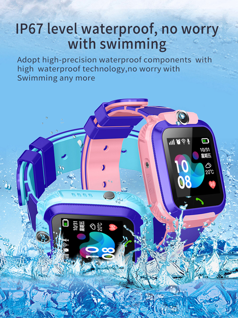 LIGE 2019 Smart Watch For Children Kids Baby Watch Phone 2G Sim Card Dail Call Touch Screen Waterproof Smart Clock Smartwatch