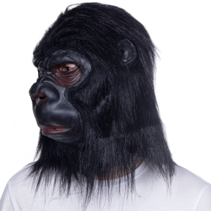 Image 4 - Halloween Latex Black Gorilla Mask Adult Full Face Funny Animal Mask Latex Halloween Party Cosplay Costume