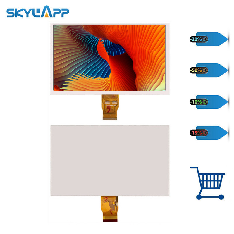 Skylarpu 9 inch for HW90F-0A-0A-10,L900HB50-002,FPC10153-V2 <font><b>LCD</b></font> screen <font><b>50</b></font> <font><b>pin</b></font> display panel (without touch) Free shiping image