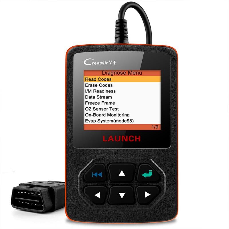 Motor de Leitor de Código de LANÇAMENTO Creader V + OBDII X431 OBD2 2 função Creader V plus Automotive Suporte do Scanner OBD Completo ferramenta de Scanner
