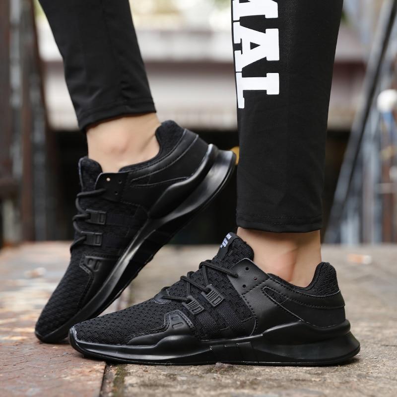 Primavera y verano Popular hombres moda Casual zapatos transpirables 2018 zapatillas de deporte adulto antideslizante Calzado cómodo 3 colores