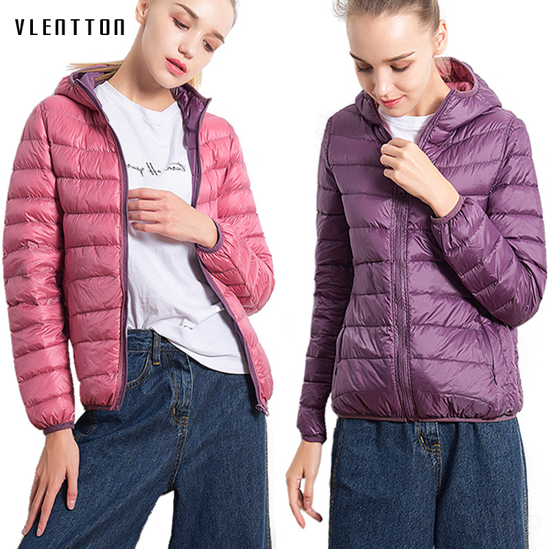 2019 Ultra Light Winter Plus Size Women's   Down   Jacket Hooded 90% White Duck Sided Jacket Women Warm   Coat   Female Casaco Feminino