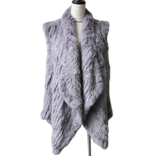 2019 New Quality New Fashion Real Knitted Rabbit Fur Vest Real Fur Vest Genuine Rabbit Fur Waistcoat Rabbit Fur Gilet Hot Sale cheap HARPPIHOP Fashion Slim Fur TM BZ 220 STANDARD REGULAR WOMEN V-Neck Sleeveless Covered Button Solid Casual