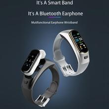 H109 Smart Bluetooth Call Bracelet Motion Tracking Smart Reminder Mobile Positioning Steps Smart Bracelet qs80 smart bracelet orange