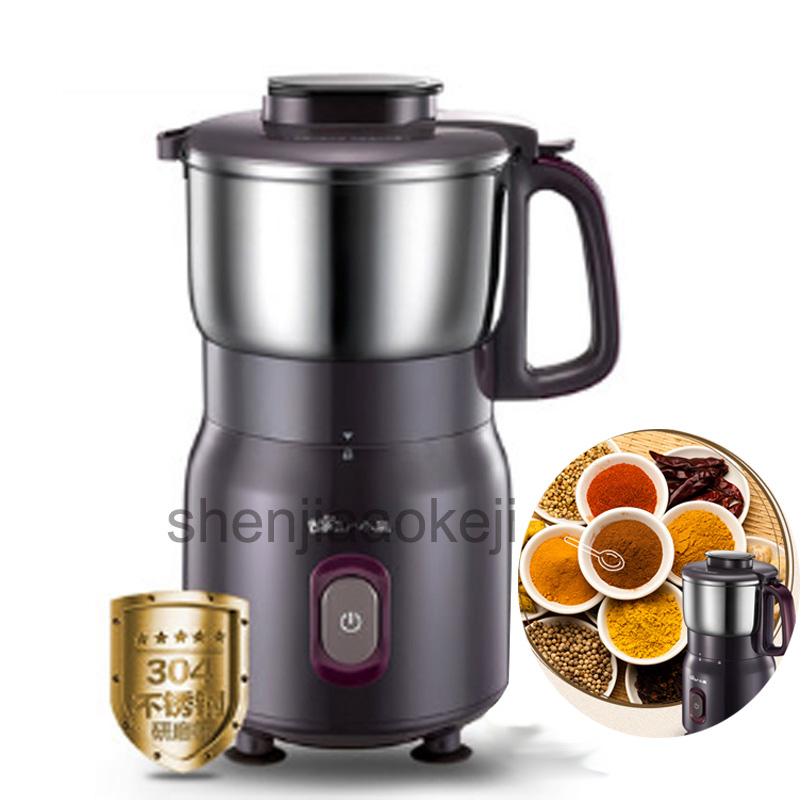 1PC Household Electric Coffee Grinder FSJ-A05B1 Ultra Fine Power Grinding Machine Stainless Steel Electric Mixer Blender 220V stainless steel chinese herbal crusher electric grinder 1000g household swing type cereals grinding machine mixer chopper device