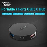 ORICO 5 USB 허브 5gbps의 4 포트 USB 3.0 스플리터 허브 휴대용 OTG 허브 마이크로 B 전원 포트 애플 맥북 노트북 PC 태블