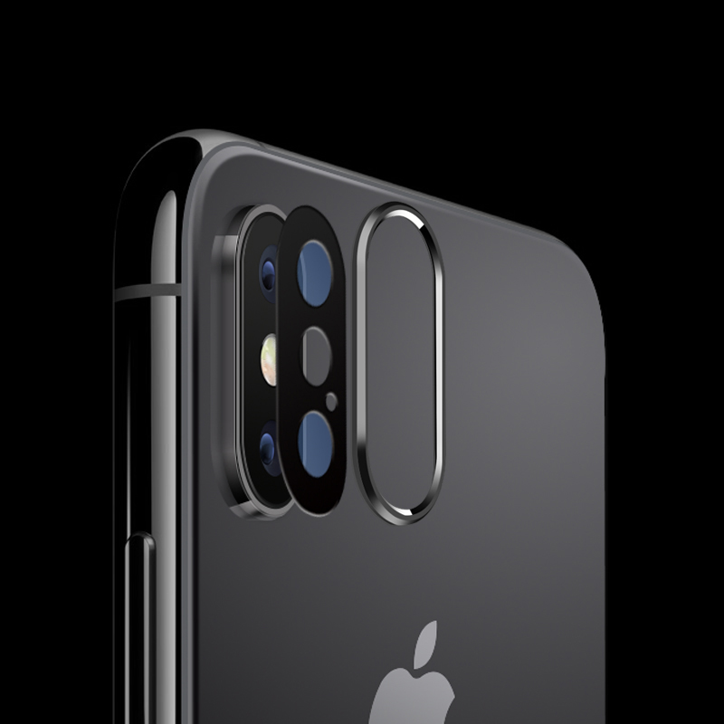 Back Camera Lens 6D Real Tempered Glass Film for Apple iPhone X Screen Protector Metal Rear Lens Protection Ring Phone Case in Phone Screen Protectors from Cellphones Telecommunications