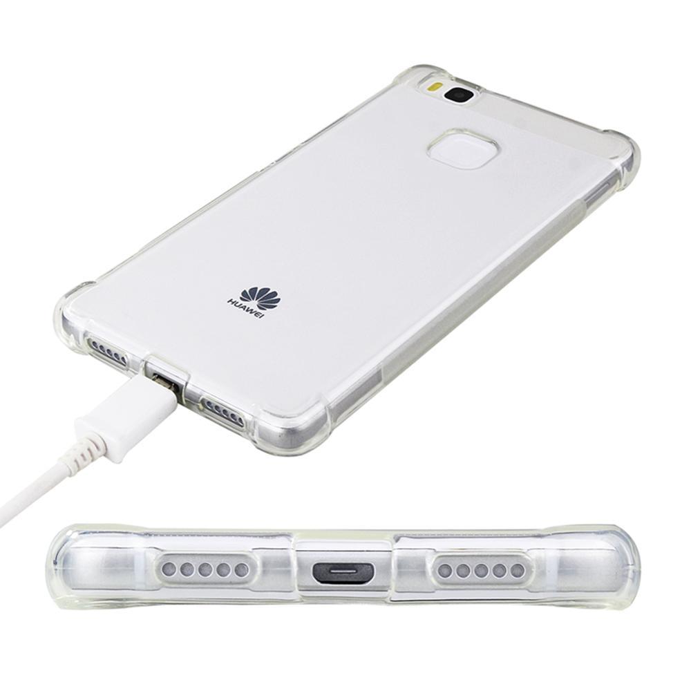 the best attitude da767 6c1b5 Case For Huawei P9 Lite Cover Silicone HD Clear Transparent Rubber Soft TPU  Shockproof Back Cover For Huawei P9 Lite 2016
