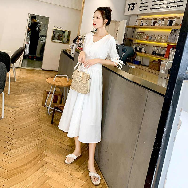 2019 женская одежда платье макси с длинным рукавом негабаритный кафтан рубашка платье плюс лето