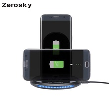 Zerosky [Qi Wireless Charger 9W] 5V 1A Smart USB Quick Fast Charging Dock For Samsung S6 S7 Edge S8 Plus Note 8 For iPhone 8 X