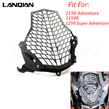 For KTM 1190 Adventure/1190R/1290 Super Adventure/ADV Headlight Protector Guard Lense Cover Grill Protector Water Cooled Models