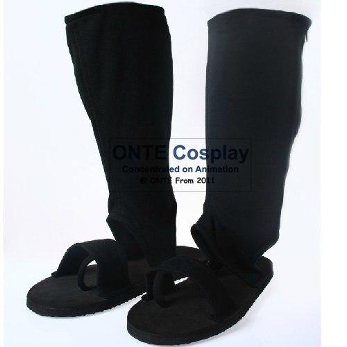 Onte zapatos Naruto Naruto Cosplay Uchiha Sasuke Orochimaru Nanja tipo botas zapatos de Cosplay negro Dropshipping