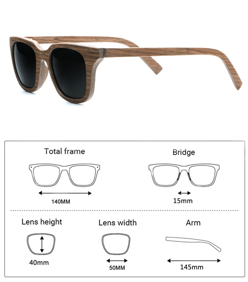 eb2153ee18 High Quality Vintage Square Walnut Wood Sunglasses Handcraft Polarized  Shades for Men Womens in Wood Case-in Sunglasses from Apparel Accessories  on ...