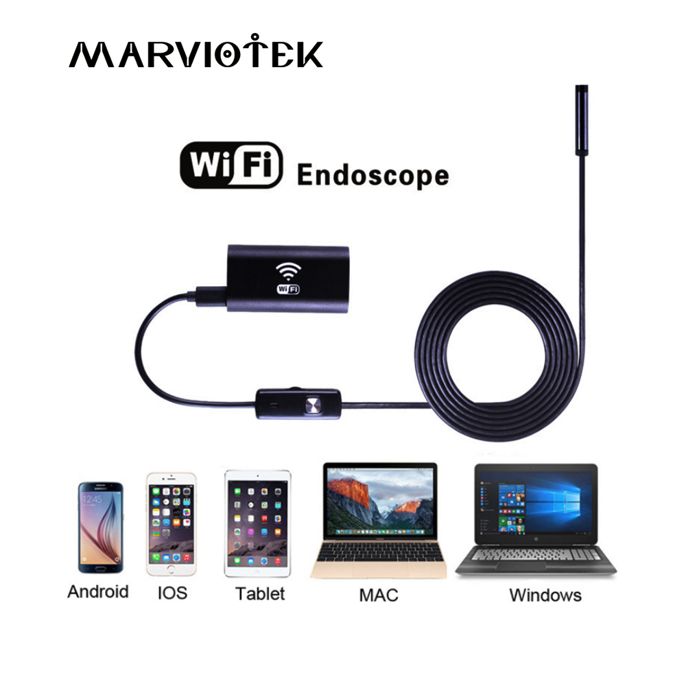 8mm Wifi Endoscope 1M 2M 3.5M 5M 10M Waterproof Camera Borescope Soft Wifi Endoscope Camera Borescope Camera For Android IOS mool 10m wifi usb waterproof borescope hd endoscope inspection camera for android ios