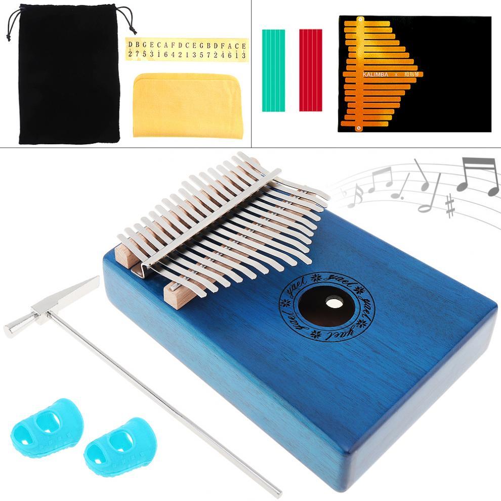17 Teclas Kalimba Tablero Simple De Caoba Pulgar Piano Mbira Natural Mini Teclado Instrumento Accesorios Aspecto Guapo