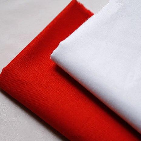 160cm * 50cm vermelho branco retalhos algodão pano colcha diy tecido de algodão de cor sólida para costurar tecidos de artesanato de pano de boneca