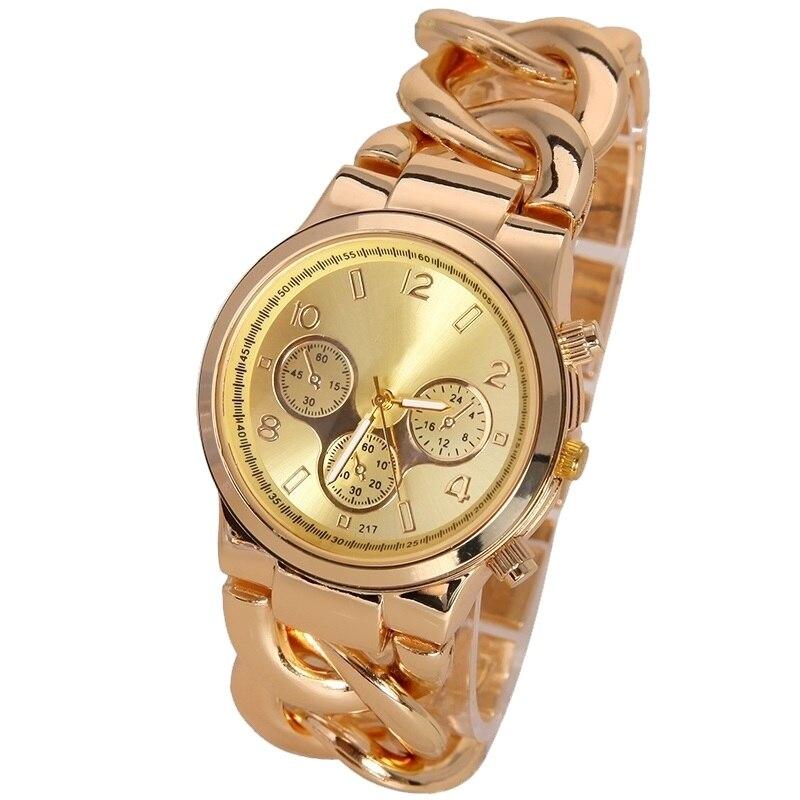 Nuovo marchio di lusso di modo shikai vigilanza delle signore delle donne  casual quarzo oro orologio da polso dress quarzo donna orologi da polso ore 6e796d35231