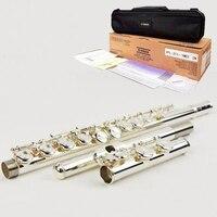 Японская флейта 311 16 отверстие E ключ закрытое Отверстие C мелодия Серебряная флейта Профессиональный музыкальный инструмент flauta поперечны