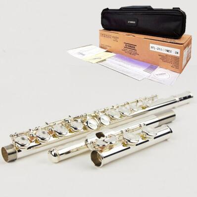 Japan flute 311 16 hole E key closed hole C Tune silver flute professional music instrument