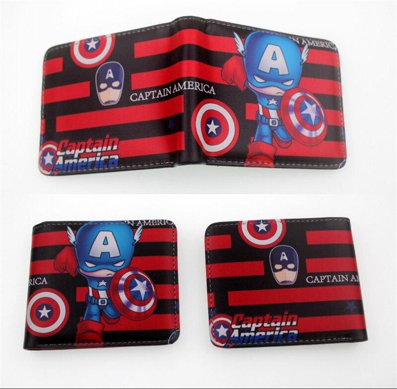 Avengers Endgame Captain America Women Zipper Long Wallet Party Purse Handbag