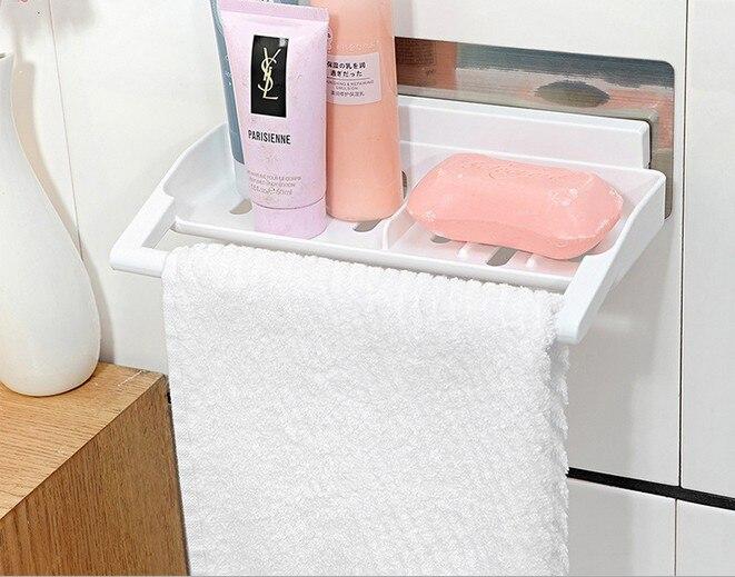 1PC New Fashion Powerful Corner Space Shelf Bathroom Shower Bath Suction Storage Holder Kitchen Sucker Organize KP 017