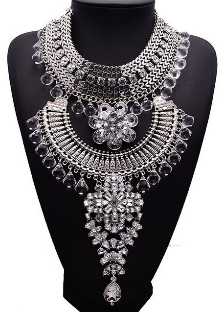 Дизайн европейский именитый лето ожерелье богемный сплав себе ожерелье длинная кристалл кисточка кулон ювелирные изделия XG831