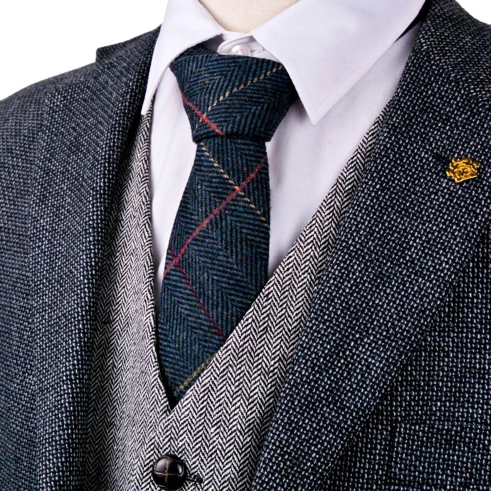 Checked Herringbone Tweed Solid Navy Blue Brown Camel Gray Grey Beige 2.76
