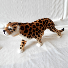 big simulaiton leopard toy resin&fur new leopard model doll gift about 58x20cm