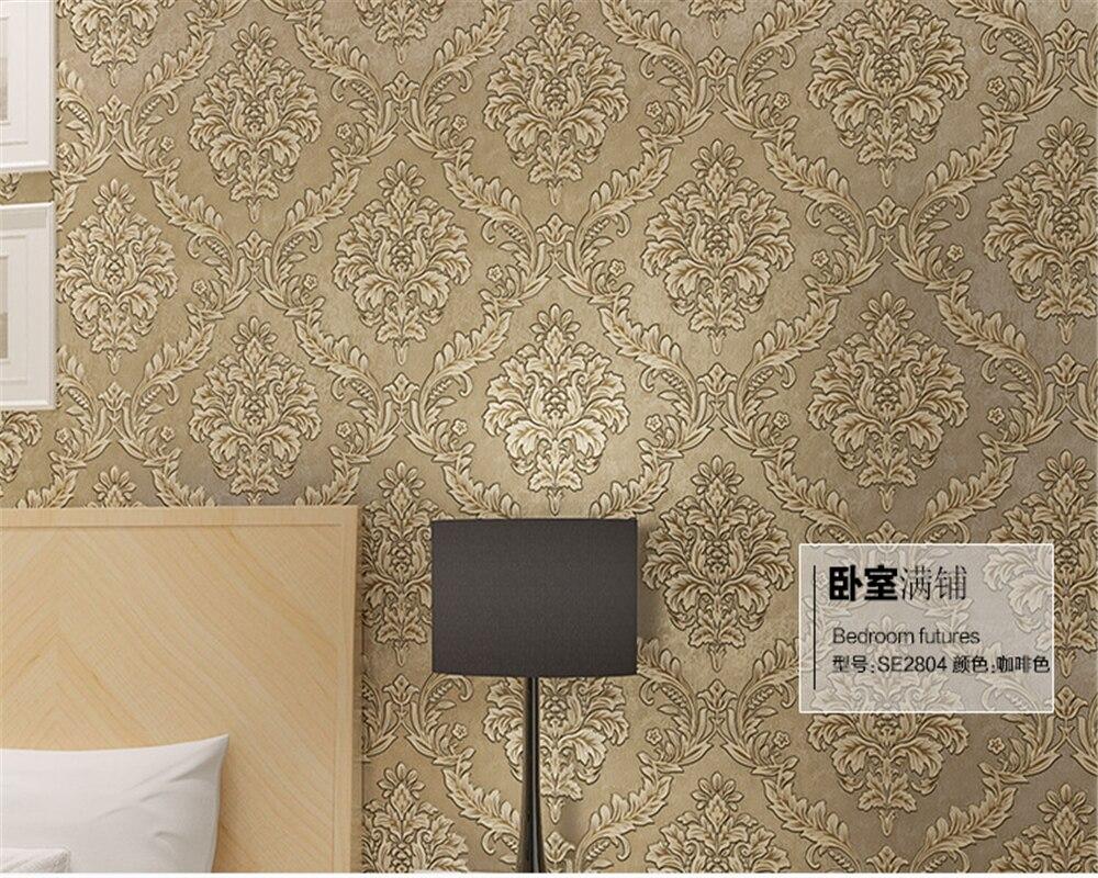 Carta Da Parati Damascata Rosa : Beibehang europea damasco wallpaper d di lusso salotto tv carta
