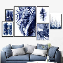 Watercolor Palm Leaf Flower Plant Branch Wall Art Canvas Painting Nordic Posters And Prints Pictures For Living Room Decor