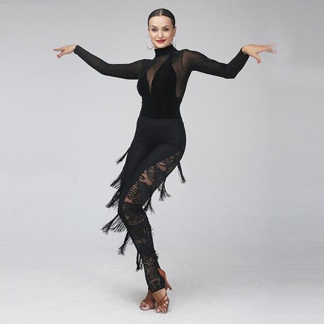 45aca1fb1 tassel latin dancing dress samba costume latin pants dance wear cha ...