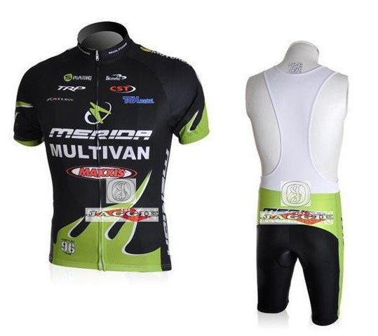 NEW Arrivals Merida 2010 green short sleeve cycling team jerseys wear clothes bicycle bike riding jersey bbb Z123 shot kit
