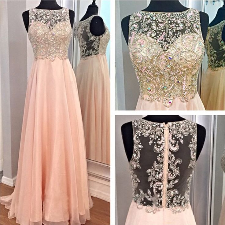 Gorgeous Rhinestones Beaded Pink   Prom     Dresses   Real Photos 2015 Cap Sleeve Sheer See Through A Line Plus Size   Dress   For Party