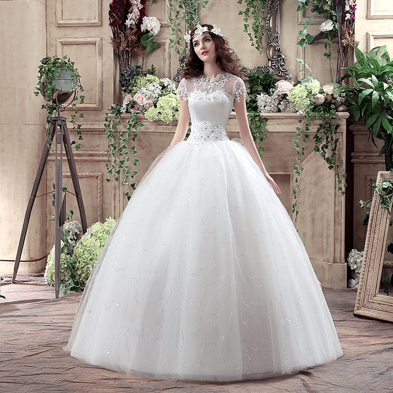 Wedding Dressing Gowns Personalised: Cheap 2016 New Arrive Korean Style Large Wedding Dress
