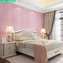 Thicken anti-collision 3d stereo wall stickers bedroom warm wallpaper self-adhesive waterproof foam brick decorat