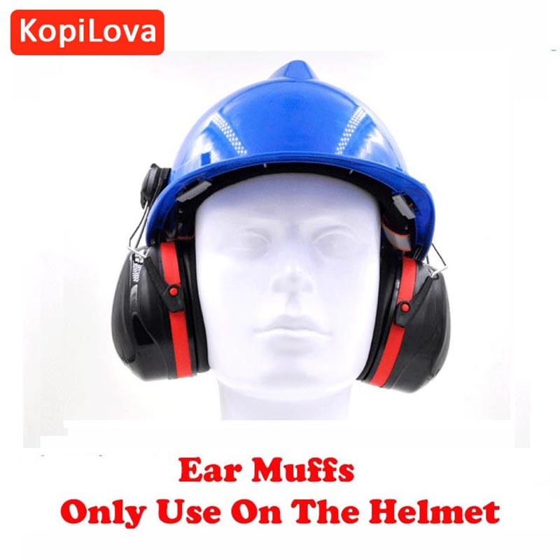 KopiLova Ear Protector Ear Muffs Industry Anti Noise Hearing Protection Sound Proof Earmuff Only Use on Helmet free shipping
