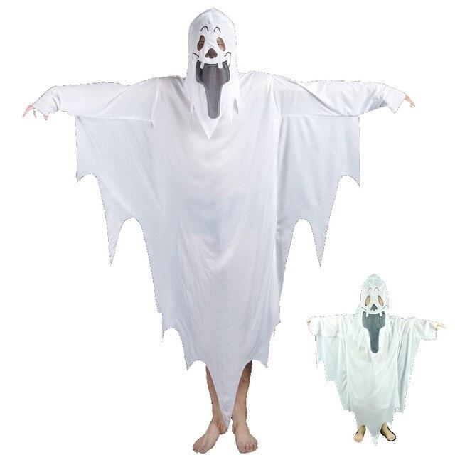 White Ghost Kleidung Kinder Erwachsene Halloween Weihnachten Make Up ...