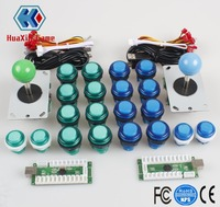 2 Player Arcade DIY Kit Parts USB LED Encoder 4/8 Ways Joystick + 5V Illuminated Push Button For Mame Jamma Raspberry pi1 2 3 3B