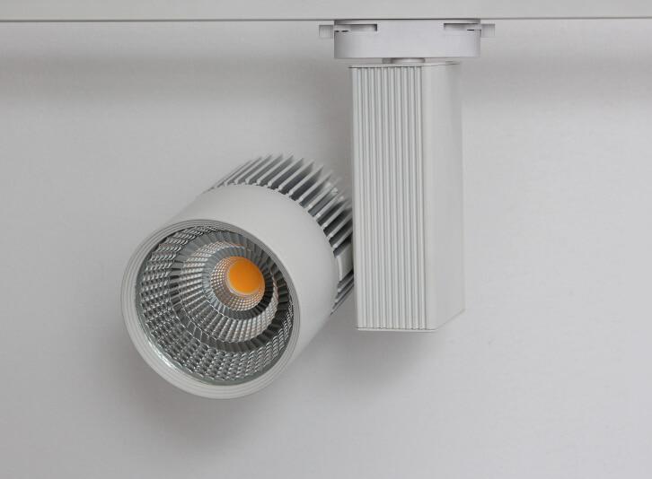 45W white housing 4000-4500K RA80 CREE COB LED Track light45W white housing 4000-4500K RA80 CREE COB LED Track light