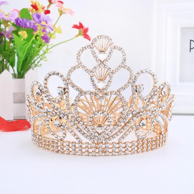 Princess Tiaras And Crowns Queen Wedding Hair Accessories Headband Crystal  Bridal Hair Jewelry Headpiece HG213 8241b5f3ac0e