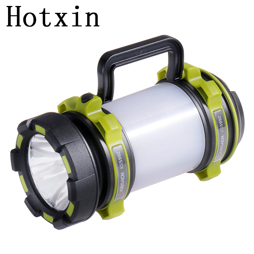 High power Rechargeable portable spotlight Multi Function Waterproof LED Searchlight Outdoor hunting Camping Lantern Flashlight high power portable spotlight lantern searchlight rechargeable waterproof hunting spotlight built in battery